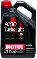 Моторное масло для авто Motul 4100 Turbolight 10W40, 4л
