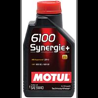 Моторное масло для авто Motul 6100 Synergie+ 5W40, 1л