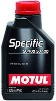 Масло моторное автомобильное Motul Specific 504.00, 507.00 5W30, 1л