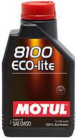 Моторное масло синтетика Motul 8100 Eco-Lite 0W20, 1л
