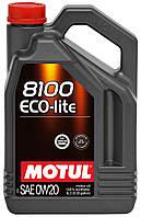 Моторное масло синтетика Motul 8100 Eco-Lite 0W20, 4л