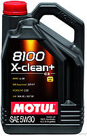 Масло синтетическое моторное для автомобилей Motul 8100 Eco-Clean+ 5W30, 5л