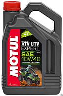 Моторное масло для квадроциклов Motul ATV-UTV Expert 4T 10W40, 4л