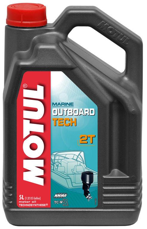 Масло моторное для лодочных моторов Motul Outboard Tech 2T, 5л