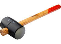 Киянка резиновая, 680 г, черная резина, деревянная рукоятка// SPARTA 111555