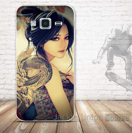 Оригинальный чехол бампер для Samsung Galaxy J2 J200 с картинкой - Взгляд девушки