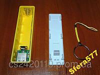 Power Bank 18650 USB корпус с электроникой желтый