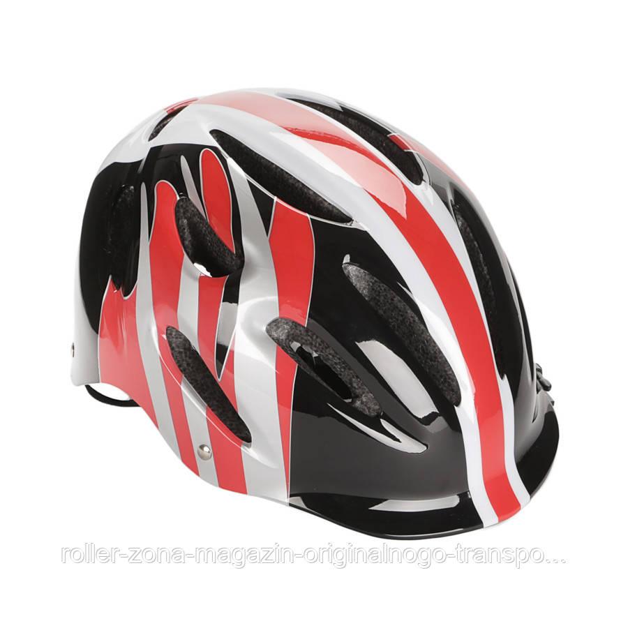 Детский защитный шлем Explore PICO PRO красный с черным М 56-58
