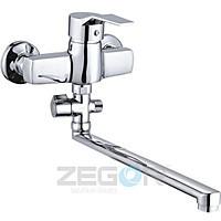 Смеситель для ванны длинный гусак, Z63-EDN ZEGOR (TROYA)