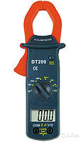 Цифровые токовые клещи DT-200, тестер, мультиметр, измерение электрических параметров