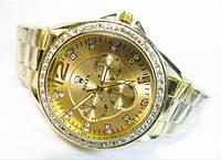 Женские кварцевые часы Rolex 5133 золотистые с браслетом, фото 1