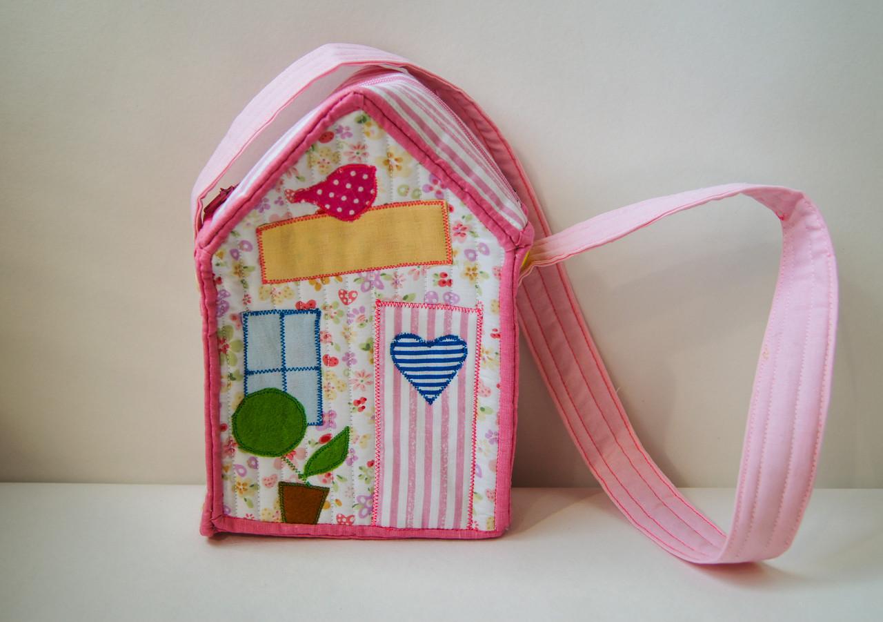 Сумочка домик для девочки в стиле Тильда, Hand Made, подарок