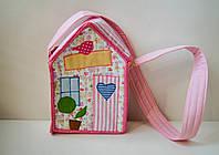 Сумочка домик для девочки в стиле Тильда, Hand Made, подарок, фото 1