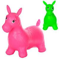 Прыгуны-лошадки MS 0738 ПВХ, 2600г, 2 цвета, большая, для взрослого, в кульке, 40-30-5см
