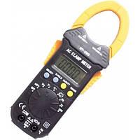Мультиметр цифровой с токовыми клещами DT-203, тестер электрика, прозвонка, измерение электрических параметров
