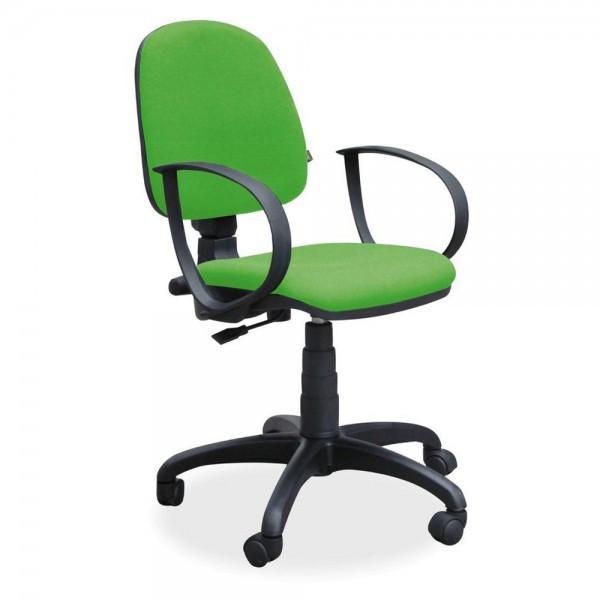 Кресло для персонала Престиж Люкс, низкая спинка, подлокотники АМФ 1/7/8, TM AMF