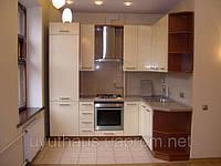 Кухня с фасадами глянцевый МДФ под заказ