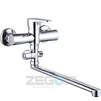 Смеситель для ванны длинный гусак, PUD6-A045 ZEGOR (TROYA)