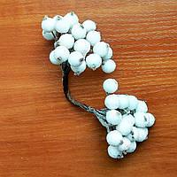 Ягоды в сахаре декоративные белые 12 мм