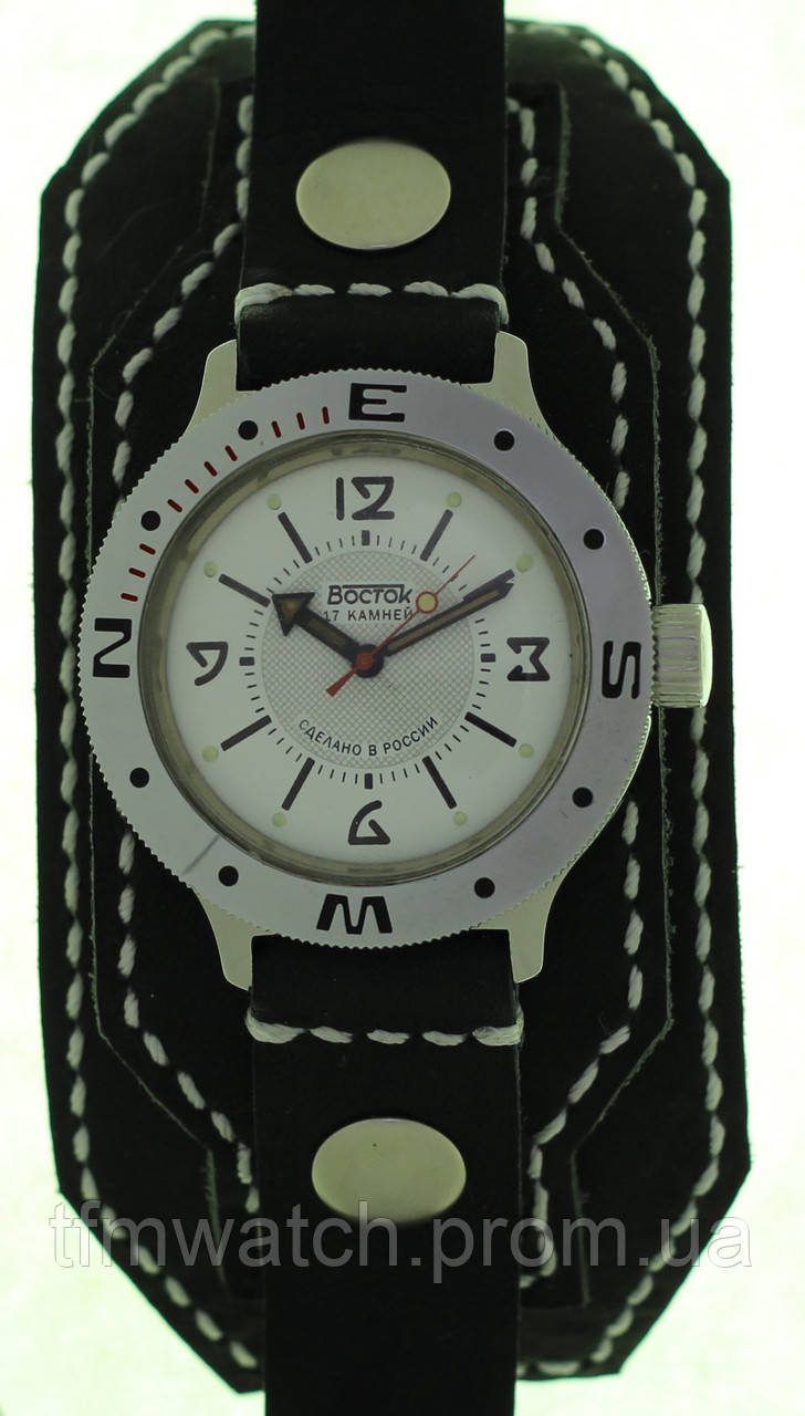Механические часы Восток Амфибия  ремень ручной работы