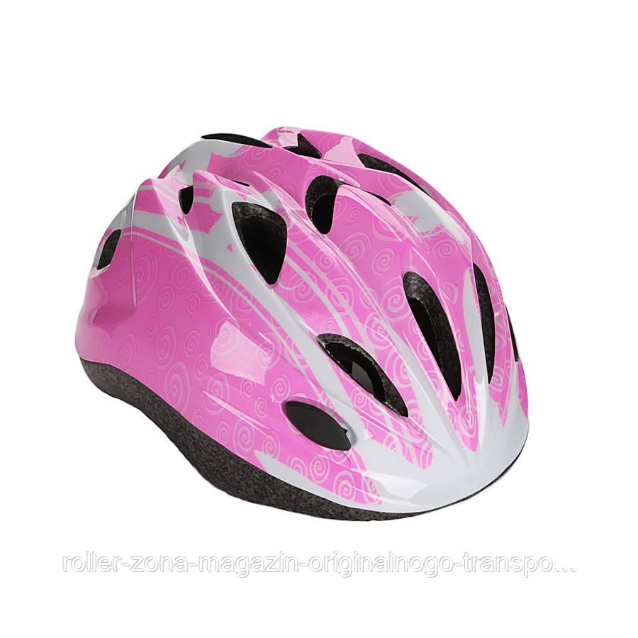 Детский защитный шлем Explore Tresor розовый М 56-58