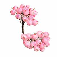 Ягоды в сахаре декоративные розовые 12мм