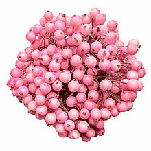 Ягідки в цукрі декоративні рожеві 400 мм шт 12