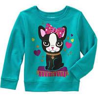 Бирюзовый свитер для девочек Garanimals Fleece 2 года