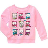 Детский розовый свитер для девочки Garanimals Fleece 2 года