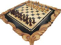 Шахматы+нарды ручной работы