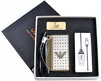 Зажигалка с ножом Giorgio Armani (спираль накаливания, USB) №4758 SO