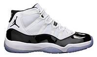 Мужские кроссовки Air Jordan 11 White/Black Реплика, фото 1