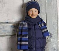 Шапка + шарф (подкладка флис на уши) для мальчика