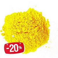 Фарба Холі (Гулал), Жовта, фасування 75 грам, суха порошкова фарба для фествиалів, флешмобів, фото, фото 1