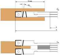 Фреза пазовая составная, с мех. креплением твердосплавных ножей и подрезных, регулируемая D180-d32-B12-20-z4v4
