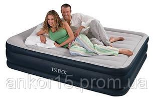 Двоспальне надувне ліжко Intex 67736 (152Х203Х48)