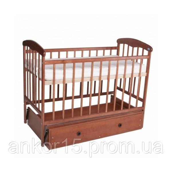 Дитяче ліжечко Наталка, світла, маятник з ящиком