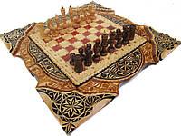 Эксклюзивные шахматы-нарды с художественной резьбой по дереву