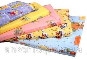 Матрас в детскую кроватку трехслойный (кокос+поролон+кокос) 120х60