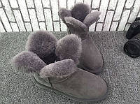 Угги Клевер серые натуральная овчина