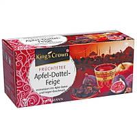 Kings Crown Фруктовый чай в пакетиках Яблоко-Финики-Инжир 25 шт. (Германия)
