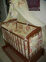 Кроватка Маятник ящик + постель+ матрас+ держатель