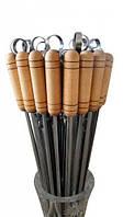 Набор шампуров с дерев ручкой 6шт + Мангал + чехол