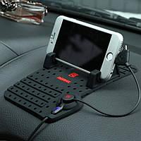 Автомобильный держатель-коврик Remax Car Holder RC-CS101 + Combo cable