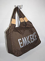 Спортивная, дорожная, пляжная сумка EMKeke 915 коричневая, расцветки