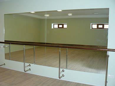 Зеркала для тренажёрных, танцевальных залов с установкой