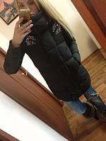Куртка с камнями и высоким воротником НН! 818