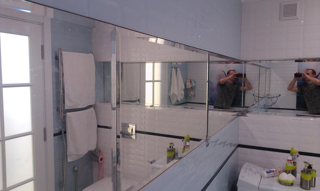 Зеркала с фасетом для ванных и душевых комнат на заказ.