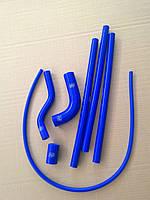Силиконовые патрубки системы охлаждения ВАЗ 2110,2112, Приора синие