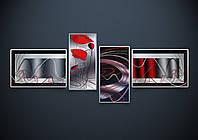 Схема для вышивания бисером Этюд с маками (полиптих,серия «Элит») АР2-002